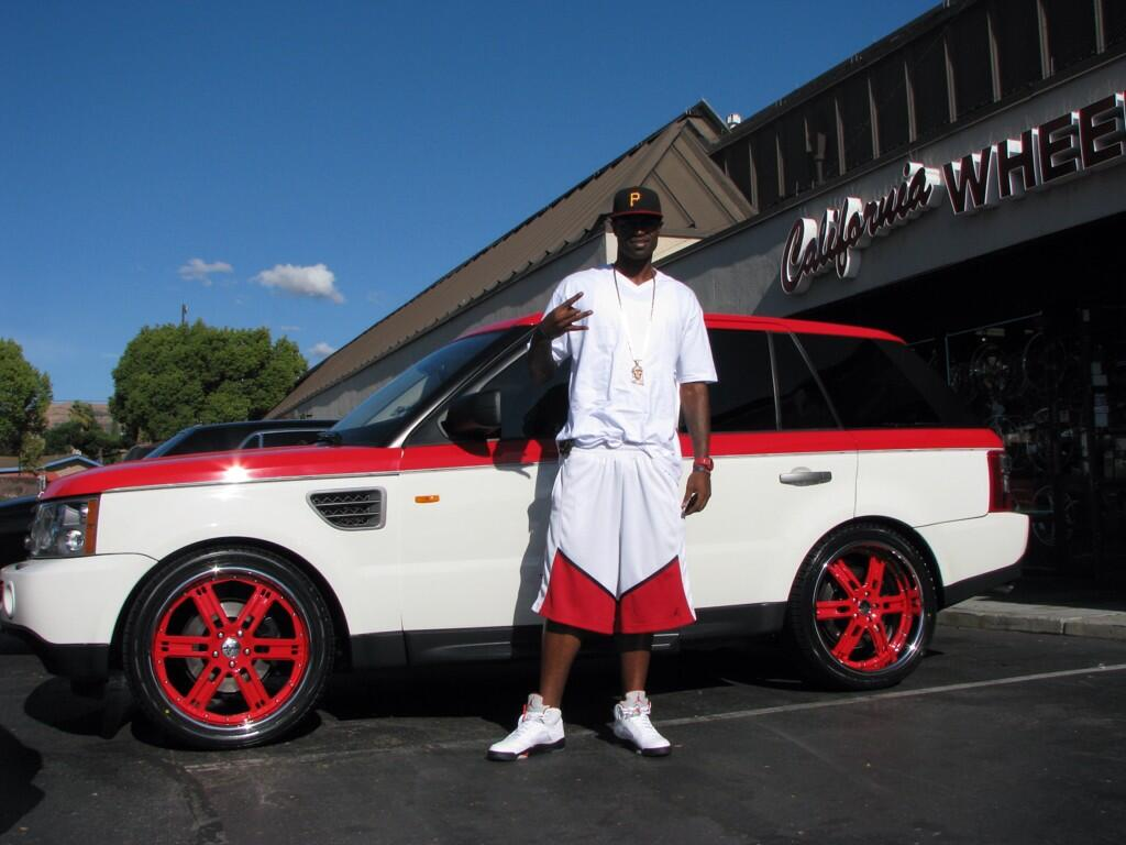 Stephen Jackson and his Range Rover Sport