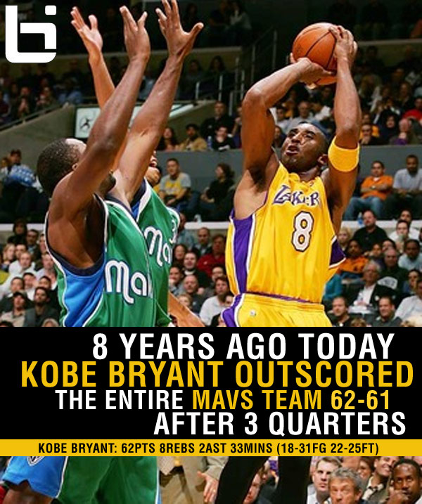 2005: Kobe Outscored The Entire Mavs Team 62-61 After 3