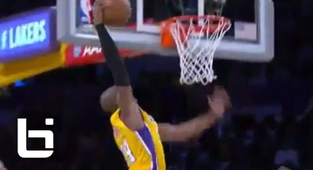 Kobe Bryant's First Dunk of the Season!