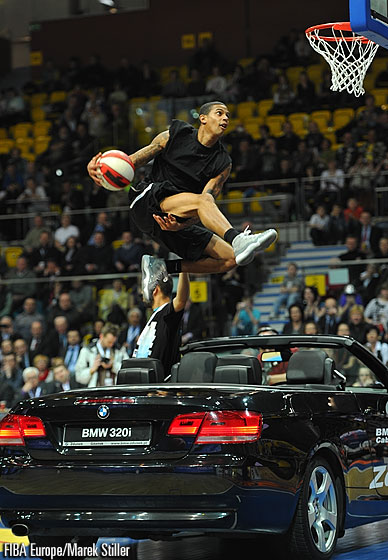 12 minutes of Guy Dupuy doing between the legs dunks over people and cars