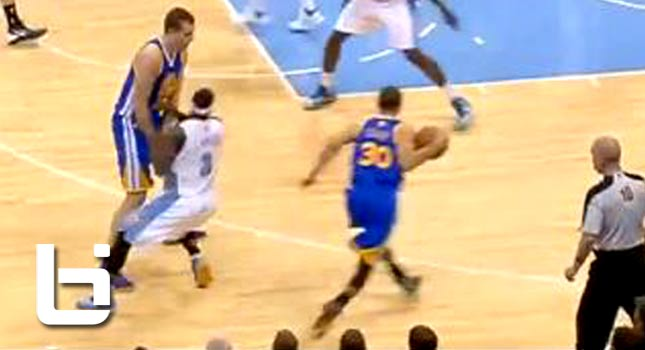 Steph Curry Nasty Cross on Ty Lawson & Hits 3