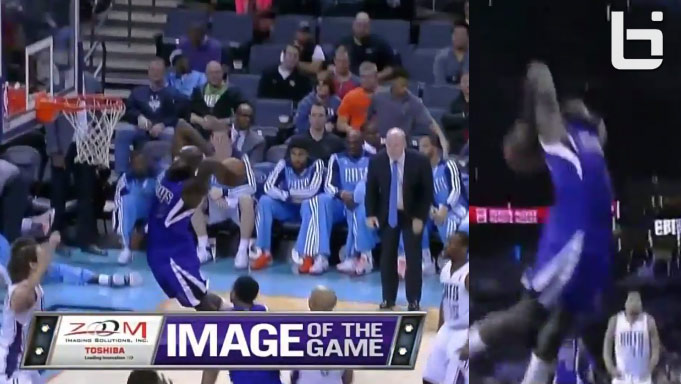 Dunk of the Night: Quincy Acy with the monster 2 hand dunk vs the Bobcats
