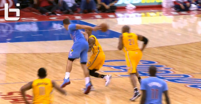Assist of the Night: Blake Griffin (?) with the behind the back pass