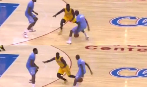Jamal Crawford ankle breaking move on Lance Stephenson
