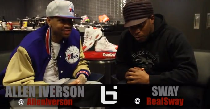 Sway interviews Allen Iverson & talks about retirement, crossing over Jordan and who is hip hop's Kobe