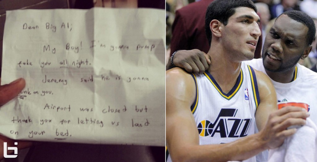 Enes Kanter leaves a hilarious note for ex teammate Al Jefferson
