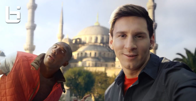 """Kobe Bryant & Messi's new Turkish Airlines commercial """"The Selfie Shootout"""""""