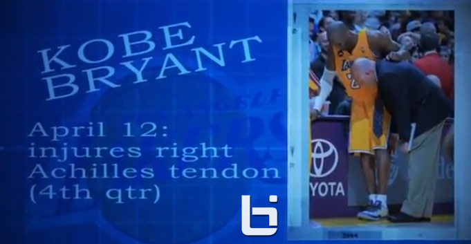 Kobe Bryant Video Timeline from Injury to Contract Extension