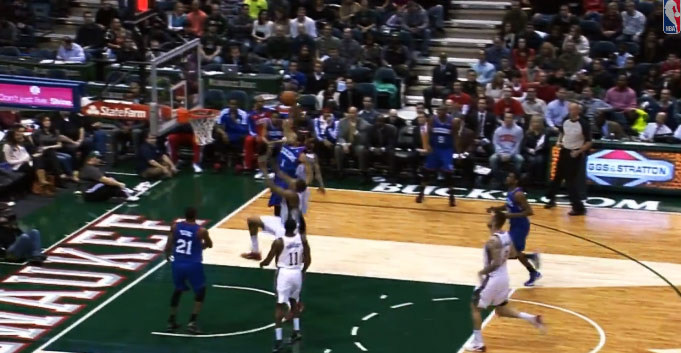Michael Carter-Williams Dunk on Antetokounmpo brought back a memory of Eddie Jones dunking on the Bucks