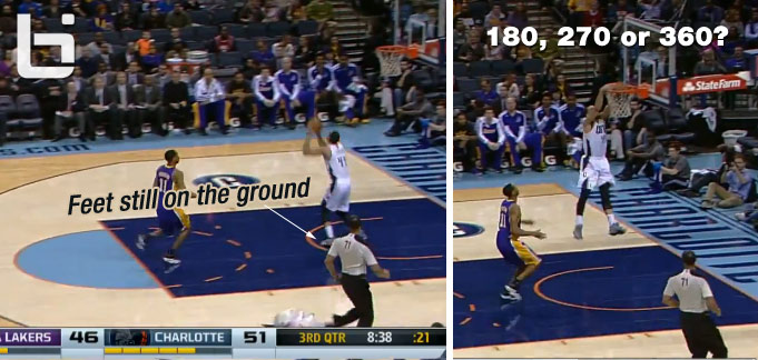 Was Jeffery Taylor's dunk a 180, 270 or 360? Is any 360 really a 360?