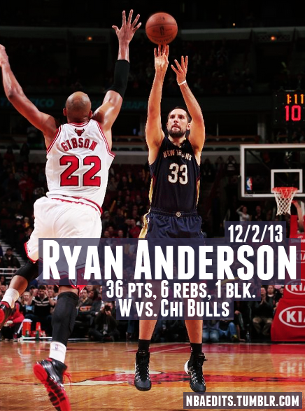 Ryan Anderson scores career high 36 in 3OT win over the Bulls