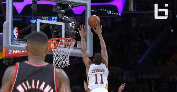 Block of the Night: Wes Johnson with the 2 hand rejection on Damian Lillard