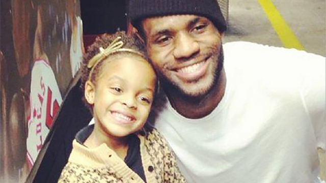 Well, This Photo Of LeBron And Chris Bosh's Daughter Is Slightly Awkward