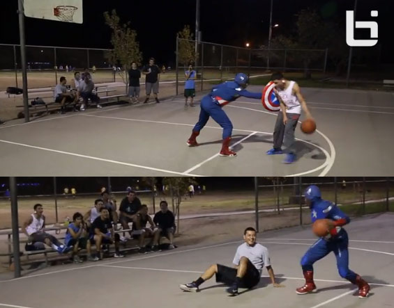Spiderman Basketball Pt 4 starring Bone Collector as Captain America
