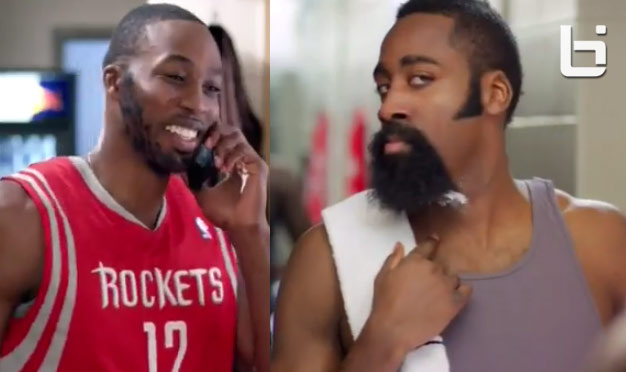 James Harden shaves his beard and Dwight Howard grows one for All-Star weekend