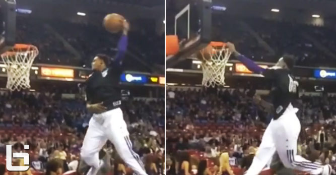 Ben McLemore continues to audition for the NBA dunk contest