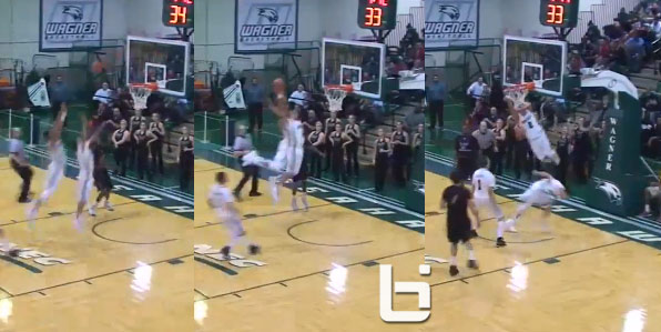 Dwuan Anderson posterizes his own teammate with a nasty off the backboard alley oop