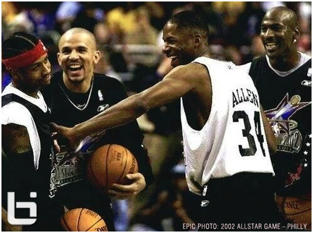 Epic Photo Of The Day Jordan Kidd Jesus Amp Iverson At The 2002 Nba All Star Game