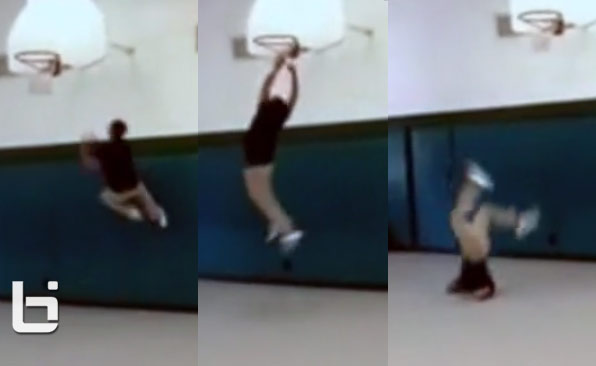 This crazy dunk is a H for Hospital visit not H.O.R.S.E.