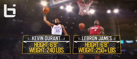 ESPN Sports Science: LeBron James vs Kevin Durant