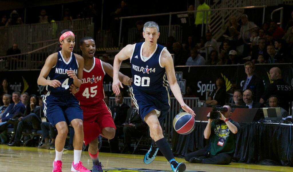 Secretary of Education Arne Duncan dominates Celebrity All-Star Game | sick no-look pass