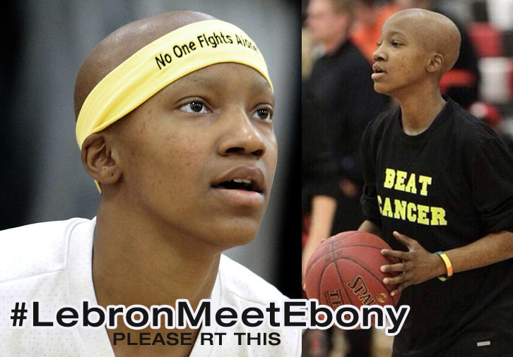 Thousands tweet #LeBronMeetEbony so High School Basketball Star Ebony Nettles-Bey, who is fighting Cancer, can meet her idol LeBron James