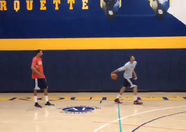 Anthony Davis responds to LeBron James with an off the wall windmill dunk
