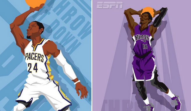 Art of the Day: 2014 Slam Dunk Contestants