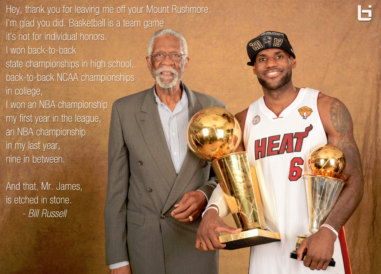 fc5353d71d1 Bill Russell thanked roasted LeBron James for leaving him off his ...