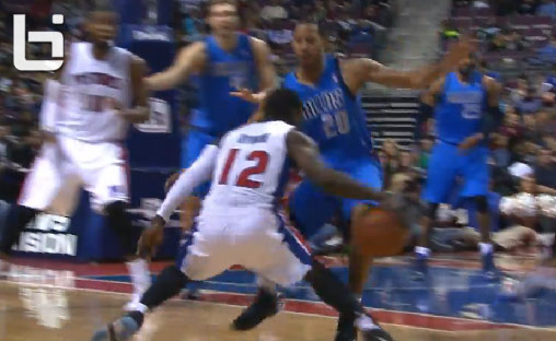 Will Bynum's crossover makes Devin Harris stumble