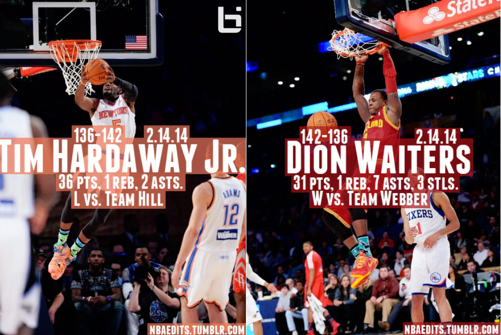 Tim Hardaway Jr & Dion Waiters had one of the best one-on-one 3pt shootouts ever in the Rising Stars game