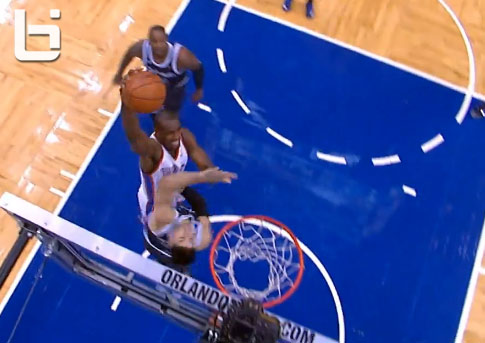 Serge Ibaka scores 26 points and dunks on Vucevic