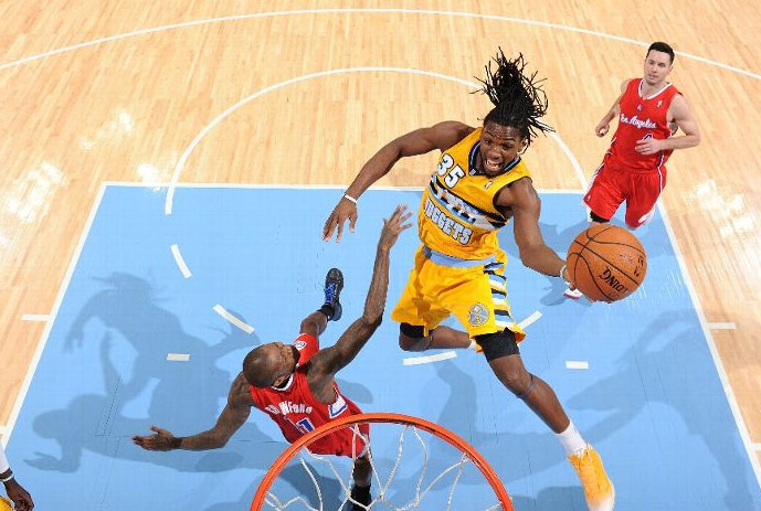 Kenneth Faried with 28 points, 3 dunks & a block on Blake to make you forget about Ross' dunk