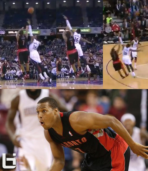 Reggie Miller Rule? Kyle Lowry is called for an offensive foul & a tech after making a 3 pointer