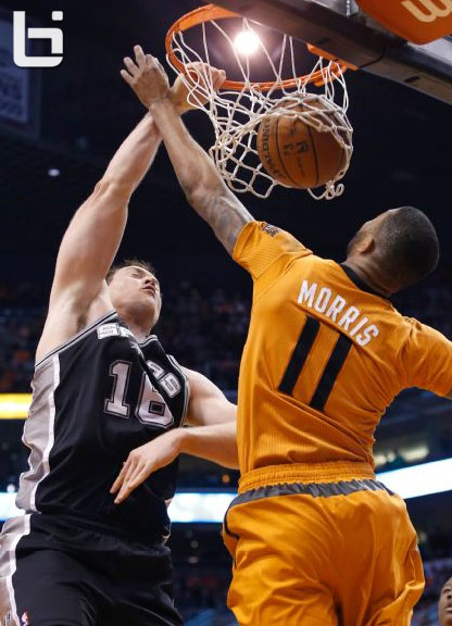 Aron Baynes Dunk On Markieff Morris Then Gets Dunked By Brother