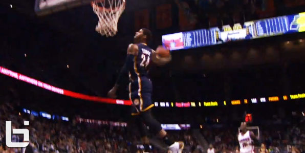 Paul George's light work windmill vs the Hawks teases dunk contest fans