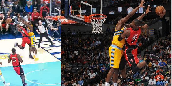 Terrence Ross dunks on Kenneth Faried