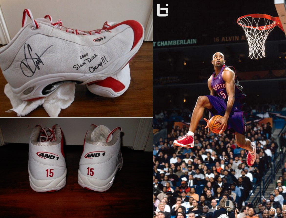 37d23cf2fa5 Vince Carter s custom And1 shoes worn in the Dunk Contest are for ...