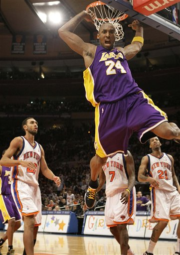 Kobe Bryant, Jared Jeffries, Wilson Chandler, Al Harrington