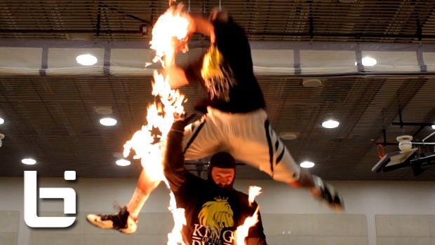 Kenny Dobbs Dunks Over Man ON FIRE & Burns The Net Too!