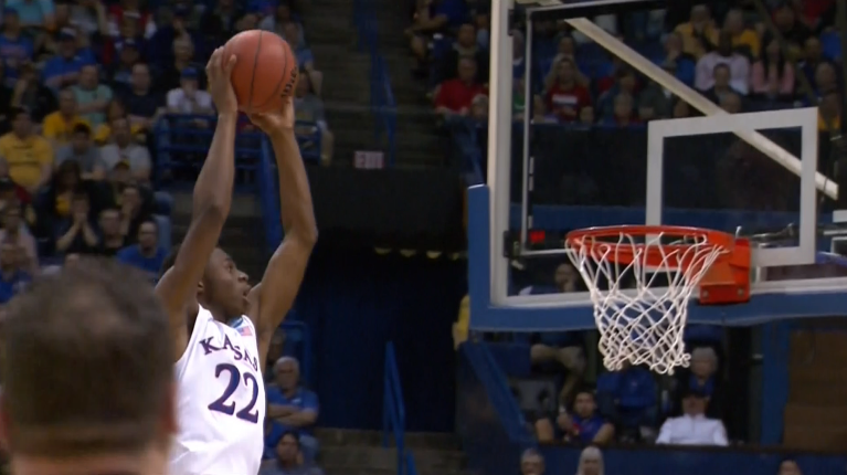 (GIF) Andrew Wiggins gets way up for the alley-oop dunk vs E. Kentucky