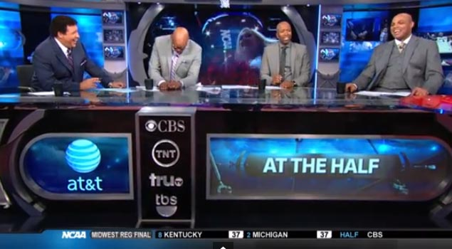 """Charles Barkley sings during NCAA Halftime show """"They call me Frank Sinatra Jr back in Leeds Alabama"""""""