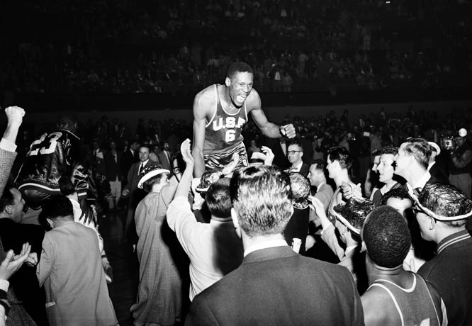 Bill Russell double triple double (26/27/20) in NCAA championship game