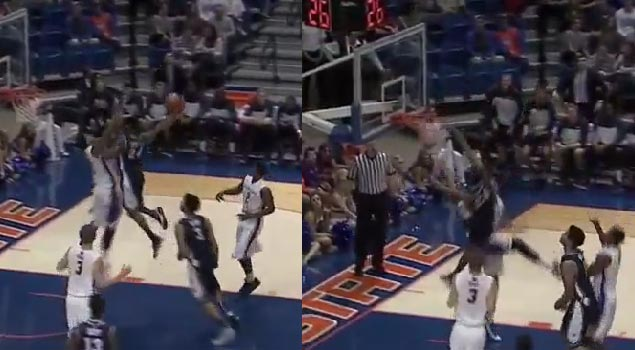 Nevada's Deonte Burton (6'1) posterizes defender & goes off in 2nd OT
