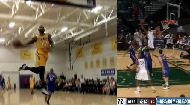 Manny Harris off the glass, Ra'Shad James dunks & Terrence Williams' windmill headline the D-League Plays of the Day