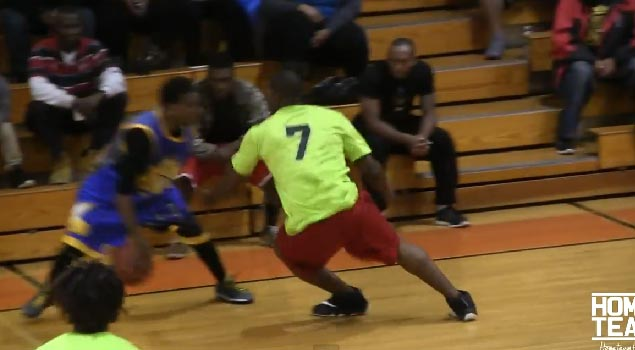 Hot Sauce drops a defender and makes him sit down with a crossover during a Court Kingz game
