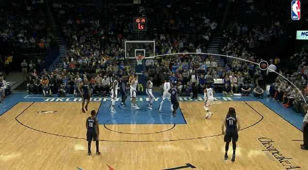 Ibaka swats Al Jefferson's shot into the stands