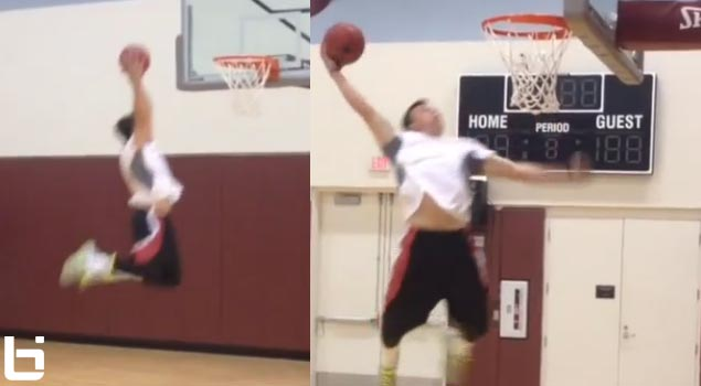 Johnny Manziel puts on a dunk exhibition (360 dunk)