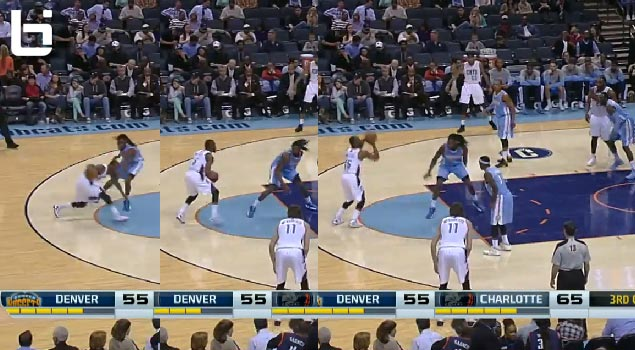 Kemba Walker crossover & step-back jumper on Kenneth Faried