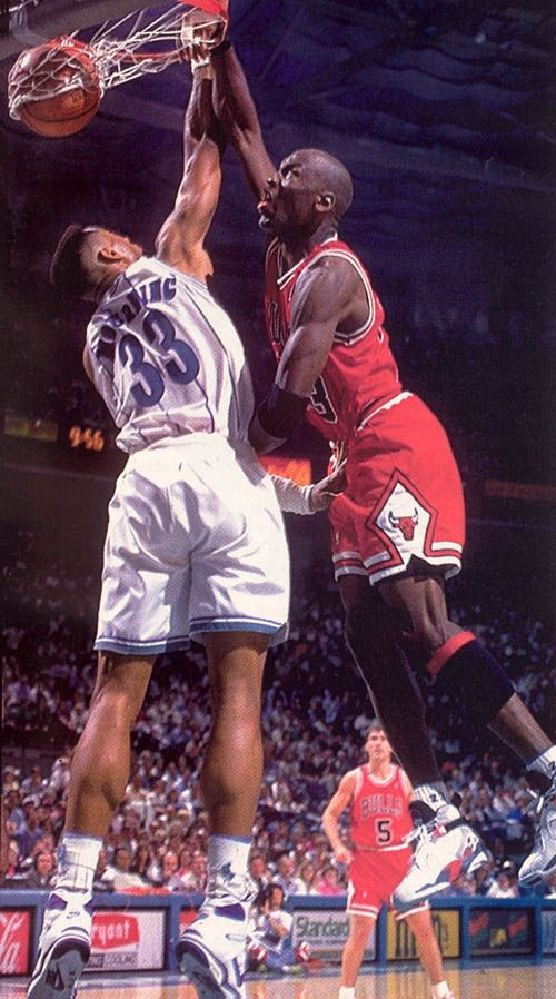 Michael Jordan Dunks On Alonzo Mourning Twice In The Same Game
